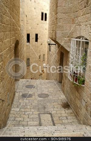 A street in the old city jerusalem stock photo, via dolorosa - the last jesus way in jerusalem by Pavel Bernshtam