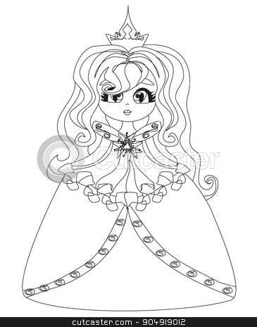 Beautiful little princess stock vector clipart, Beautiful little princess by Jacky Brown