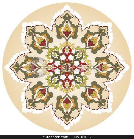 Antique ottoman turkish pattern vector design twenty nine stock vector clipart, colorful antique ottoman turkish design pattern vector by Sevgi Dal