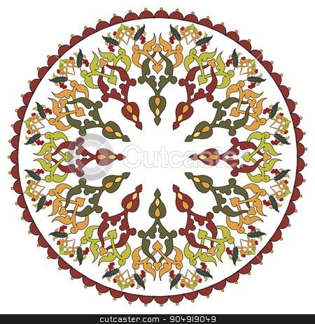 Antique ottoman turkish pattern vector design twenty seven stock vector clipart, colorful antique ottoman turkish design pattern vector by Sevgi Dal