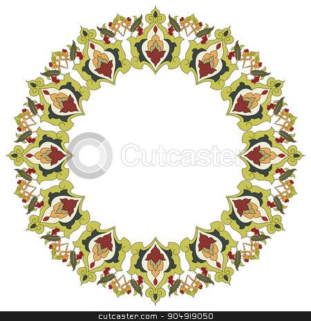 Antique ottoman turkish pattern vector design twenty six stock vector clipart, colorful antique ottoman turkish design pattern vector by Sevgi Dal
