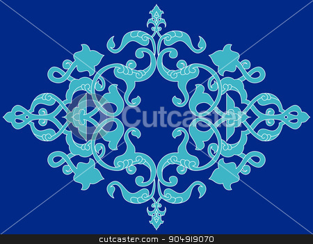 Antique ottoman turkish pattern vector design twenty three stock vector clipart, colorful antique ottoman turkish design pattern vector by Sevgi Dal