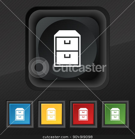 nightstand icon symbol. Set of five colorful, stylish buttons on black texture for your design. Vector stock vector clipart, nightstand icon symbol. Set of five colorful, stylish buttons on black texture for your design. Vector illustration by Serhii