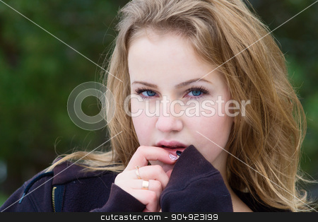 Winter portrait of the girl. stock photo, Winter portrait of girl athletes. Which deals with winter sports. by oleksandrmasnyi