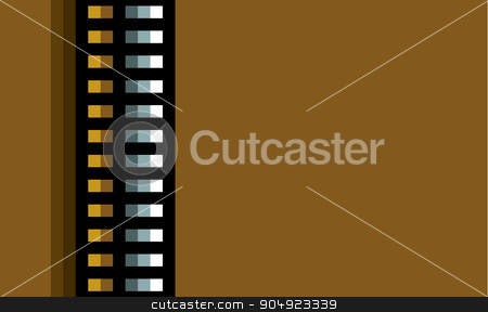 steel techno tubes with an orange light on brown stock vector clipart, steel techno tubes with an orange light on brown by johnjohnson