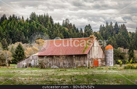 Old Abandoned Barn, Color Image stock photo, An old barn, landscape, Color Image, USA by Jeffrey Schwartz