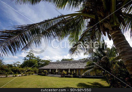A nice summer house  stock photo, A nice summer house in the tropics photographed on a sunny day by JRstock