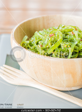 Delicious fresh seaweed spicy salad stock photo, Delicious fresh seaweed spicy salad, stock photo by nalinratphi
