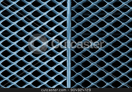 Background with Metal Grille of Car stock photo, Grunge metal abstract background - Detail of grille of a car by catalby