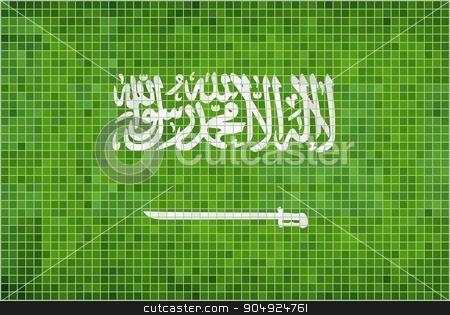 Flag of Saudi Arabia stock vector clipart, Flag of Saudi Arabia - Illustration,  Saudi Arabia Flag Vector Images, Saudi Arabia's Flag,  Grunge mosaic Saudi Arabia Flag,  Abstract grunge mosaic vector by Jugoslav