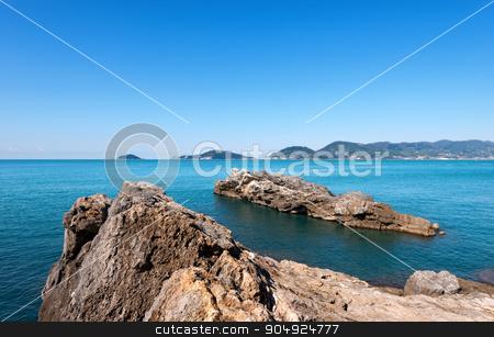 Gulf of La Spezia - Liguria Italy stock photo, Panorama of the Gulf of La Spezia (The Gulf of Poets) Liguria Italy, in the background Portovenere, Palmaria Island and Tino by catalby