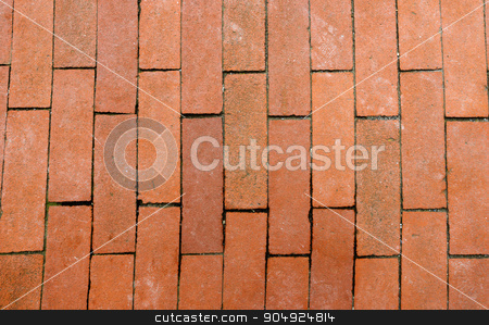 Old Floor with Brown Bricks stock photo, Detail of an old floor with brown bricks. Liguria, Italy by catalby