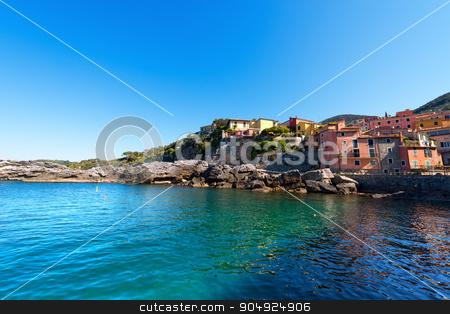 Tellaro - Golfo dei Poeti - Liguria Italy stock photo, The ancient small village of Tellaro near Lerici, La Spezia in the Golfo dei Poeti (Gulf of poets or Gulf of La Spezia) Italy by catalby