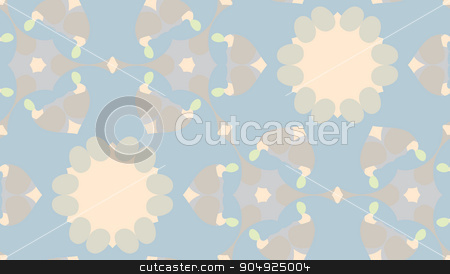 Muted Kaleidoscope Pattern stock vector clipart, Seamless pattern of muted geometric kaleidoscope shapes by Eric Basir