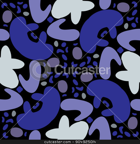 Repeating Tiled Blue Shapes stock vector clipart, Repeating pattern background of abstract blue shapes by Eric Basir