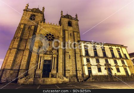 Se Cathedral in Porto stock photo, Se Cathedral (Porto Cathedral) in Porto. Porto, Norte, Portugal. by Henryk Sadura