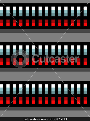seamless steel techno tubes with a red light on gray stock vector clipart, seamless steel techno tubes with a red light on gray by johnjohnson