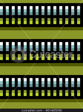 seamless steel techno tubes with a green light on green stock vector clipart, seamless steel techno tubes with a green light on green by johnjohnson