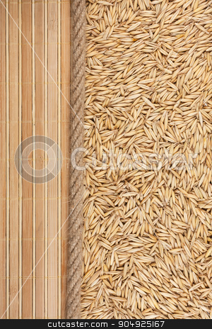 oat, mat and rope for the menu stock photo, oat, mat and rope for the menu, can be used as background by alekleks
