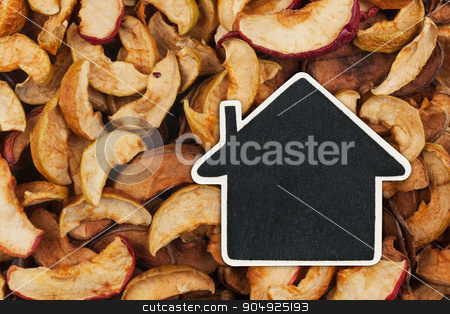 House pointer, the price tag lies on  dried  apple stock photo, House pointer, the price tag lies on  dried  apple,  with space for your text by alekleks
