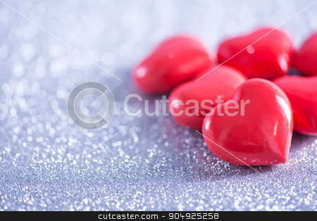 hearts stock photo, background for valentinas day, red hearts on paper by tycoon