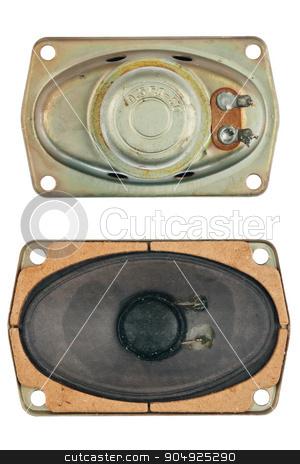 oval speaker stock photo, oval speaker, isolated on a white background by alekleks