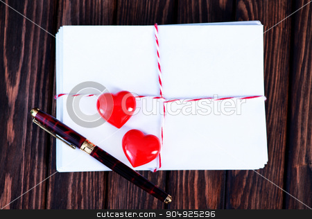 Empty copyspace valentine card  stock photo, Empty copyspace valentine card or love letter composition  by tycoon