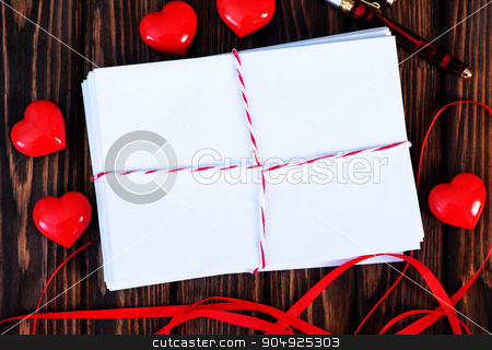 Empty copyspace valentine card  stock photo, Empty copyspace valentine card or love letter composition  by tycoon