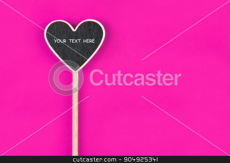 Pointer heart  with space for your text stock photo, Pointer heart  with space for your text, lies on pink  background by alekleks