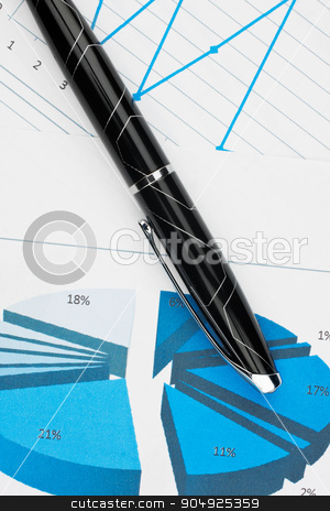 Closeup of diagrams with a pen stock photo, Closeup of diagrams with a pen, can be used as background by alekleks