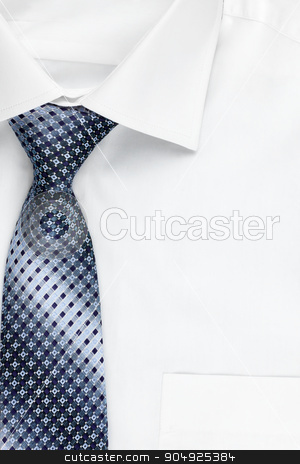 Shirt and blue tie as a background stock photo, Shirt and blue tie as a background, with place for your text by alekleks
