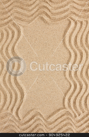 The frame is made of sand stock photo, The frame is made of sand, can be used as background  by alekleks