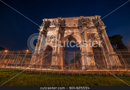 Rome, Italy: Arch of Constantine in the sunset stock photo, Rome, Italy: Arch of Constantine in the sunset of Italian winter by krivinis