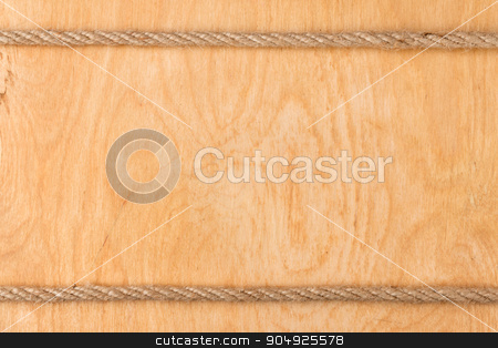 Rope on  light wooden background stock photo, Rope on  light wooden background, with place for your text by alekleks