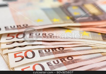 Euro closeup stock photo, Euro closeup, may be used as background by alekleks