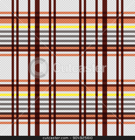 Rectangular seamless pattern in warm colors stock vector clipart, Detailed Rectangular seamless vector pattern as a tartan plaid mainly in beige, brown and yellow colors by Nataliia