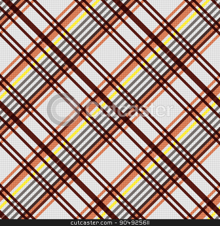 Diagonal seamless pattern in warm colors stock vector clipart, Detailed Diagonal seamless vector pattern as a tartan plaid mainly in beige, brown and yellow colors by Nataliia