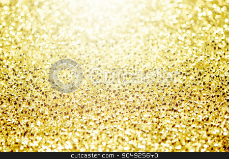 Christmas Golden Glittering background. stock photo, Christmas Golden Glittering background.Holiday Gold abstract texture.Bokeh by Miss. PENCHAN  PUMILA