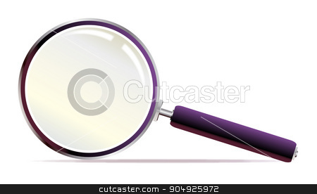 Magnifying Glass stock vector clipart, A magnifying glass over a white background by Kotto