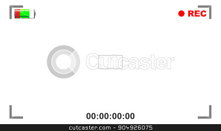 Viewfinder View stock vector clipart, View through the viewfinder of a digital movie camera by Kotto
