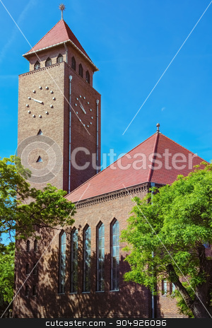 Clock Tower stock photo, Clock Tower in the City of Szeged, Hungary by Sergej Razvodovskij