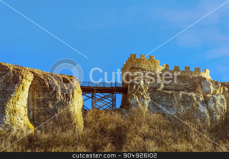 Ovech Fort stock photo, Barbican and Bridge Of Ovech Fort in Provadia, Bulgaria by Sergej Razvodovskij