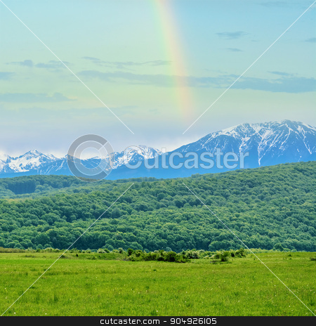Snow-capped Mountains stock photo, Snow-capped Mountains of Romania by Sergej Razvodovskij