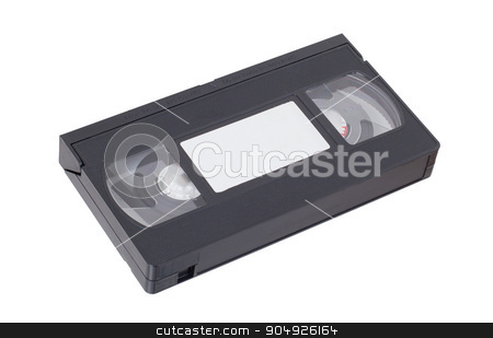 Retro videotape isolated on a white background stock photo, Retro videotape isolated on a white background, no label by michaklootwijk