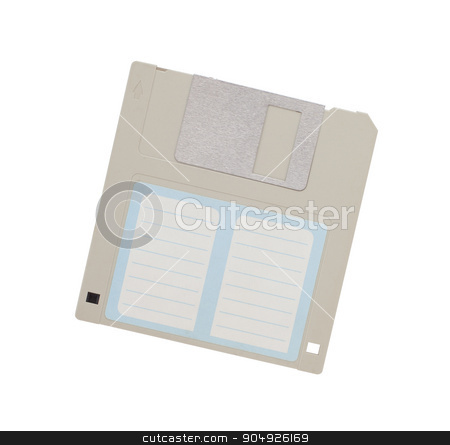 Floppy Disk - Tachnology from the past, isolated on white stock photo, Floppy Disk - Tachnology from the past, isolated on white - empty label by michaklootwijk