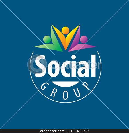 Social Group logo stock vector