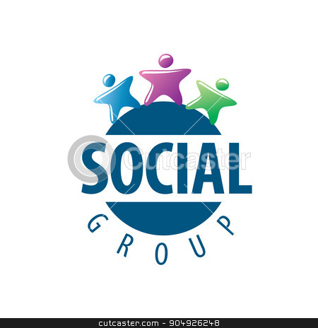 Social Group logo stock vector clipart, Abstract vector logo people for social groups by Aleksey Butenkov