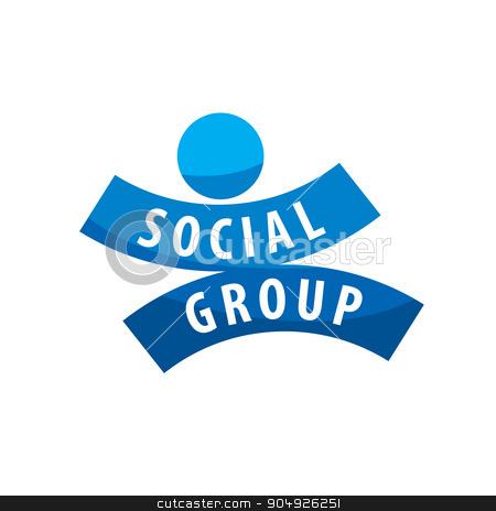 Social Group logo stock vector clipart, Abstract vector logo people for social groups by Aleksey Butenkov