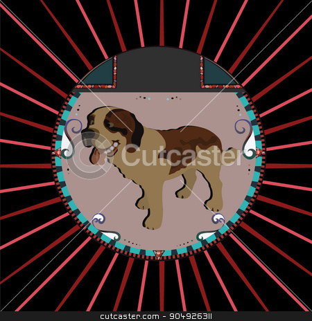 Saint bernard Dog stock vector clipart, Saint bernard Dog by ElemenTxD
