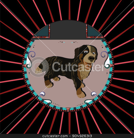 Dog Portrait stock vector clipart, Dog Portrait by ElemenTxD